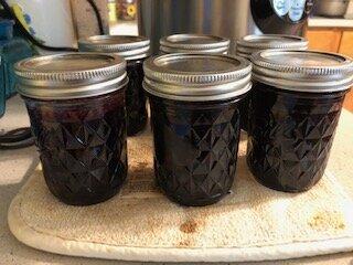 Finished grape jam
